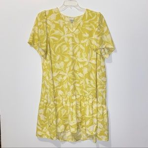 A New Day Lime Green Floral Dress Sz XXL